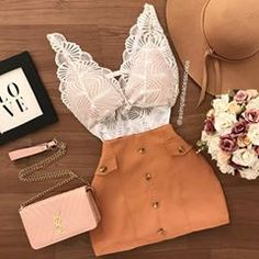 Fashion 101, Korean Fashion, Fashion Looks, Fashion Outfits, Pretty Outfits, Pretty Dresses, Cute Outfits, Two Piece Short Set, Teenage Outfits