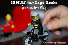 10 Must Have Lego Books for Creative Play Lego Activities, Library Activities, Minifigures Lego, Homeschool Books, Homeschooling, Lego Books, Used Legos, Lego Challenge, Lego Club