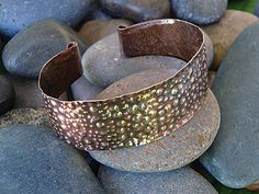 Sea Urchin Cuff Instructor: Kat Clark Workshop Fee: $35 Saturday, August 22 (2-5pm) Goddesses unite! This beautiful cuff is meant to be worn and seen. Sea urchin shells have a beautiful textural quality and so does this cuff. Learn to make this texture and form with a variety of simple tools. Take your fabrication skill to a new level. Special patinas will be discussed and used. Previous metal cutting experience is helpful but not required. Good hand strength is necessary. Materials list.