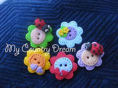 Handmade polymer clay buttons set of 5 pcs by dragosafira on Etsy, $4.50.