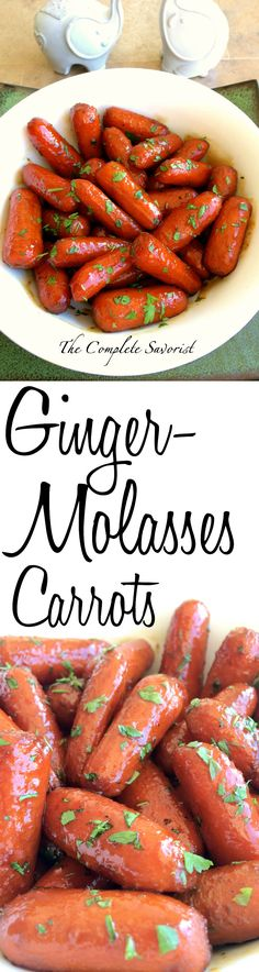Ginger Molasses Carrots ~ The Complete Savorist