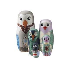 SuperLiving Bird Family - Hand Painted Babushka family. | MonkeyMcCoy