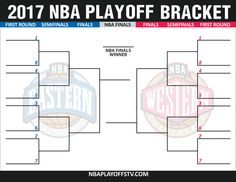 image regarding Nba Printable Bracket identify NBA Playoffs (nbaplayoffstv) upon Pinterest
