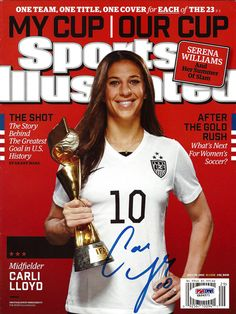 Carli Lloyd Autographed Sports Illustrated Magazine PSA/DNA ITP Stock #92999