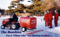 The Bambini, ice resurfacing machine, ice resurfacing equipment, Backyard portable ice skating rinks, ice hockey rink kits