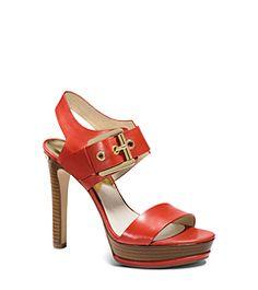 Becca Leather Platform Sandal