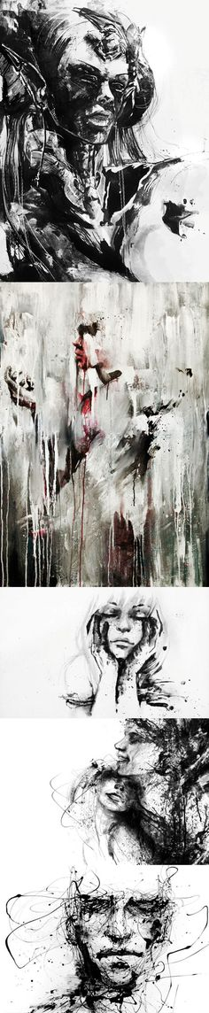 Illustration by Silvia Pelissero aka Agnes Cecile Silvia Pelissero, Agnes Cecile, Body Adornment, Digital Paintings, Distortion, Art Styles, Types Of Art, Watercolor And Ink, New Art