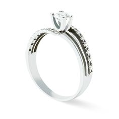 ORO BLANCO 14K 0.38CT EN DIAMANTES