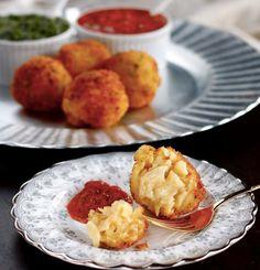Crispy Macaroni and Cheese Ball Appetizers  [RECIPE]