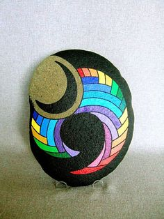 Unique 3D Art Object Hand Painted Rock Signed by IshiGallery