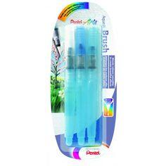 Pinceau réservoir d'eau 3 tailles - Pentel - Dalbe - Fournitures beaux arts, peinture, dessin et loisirs créatifs