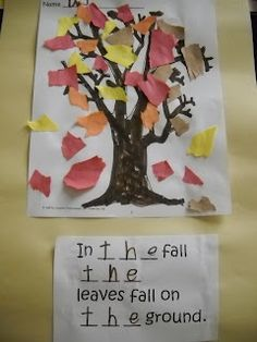 sight word idea for fall