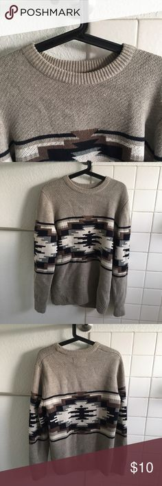 Sweater Tribal print sweater I ripped the tag off and didn't wear it 21men Sweaters Crewneck