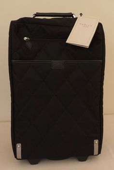 """Radley Black Quilted Wheeled Suitcase - """"Ivy"""" - BNWT - RRP £189 - NEW 