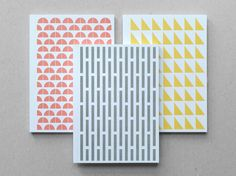 Geometry Set Jotters by presentandcorrect on Etsy