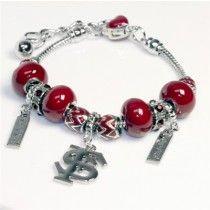 Florida State Beaded Charm Bracelet