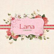 Het uilennestje geboortekaartje Lana. www.hetuilennestje.nl Romantisch, bloemen, rozen, roze, lint.