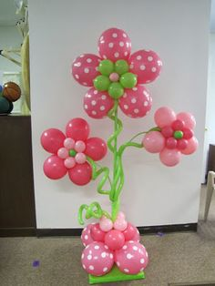 Birthday Flowers Shower Of Birthday Bouquet Polka Dots Balloons Decor