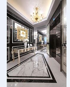 MODERN CLASSIC INTERIOR   Meet the interior of your dreams colored black and white which never goes out of style   http://www.bocadolobo.com/   #stylishdescor