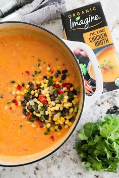 Easy Ingredient) Chicken Tortilla Soup - A Dash of Sanity Cheap Clean Eating, Clean Eating Snacks, Tortillas, Dinner On A Budget, Dinner Ideas, Dinner Recipes, Soup Recipes, Healthy Recipes, Fall Recipes
