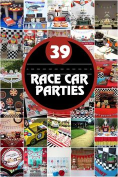 Race Car Birthday Party Ideas www. Race Car Birthday Party Ideas www. Hot Wheels Party, Hot Wheels Birthday, Race Car Birthday, Boy Birthday, Birthday Ideas, Third Birthday, Nascar Party, Race Party, Party Fun