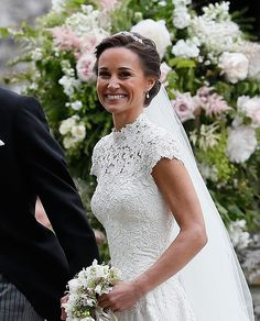 Pippa Middleton Is Married - See Her Wedding Photos Here!: Photo Pippa Middleton is officially a married woman after tying the knot with hedge fund manager James Matthews! The socialite and younger sister of the… Pippas Wedding, Wedding Robe, Sister Wedding, Wedding Gowns, Wedding Photos, Wedding Outfits, Wedding Bouquet, Perfect Wedding, Wedding Reception