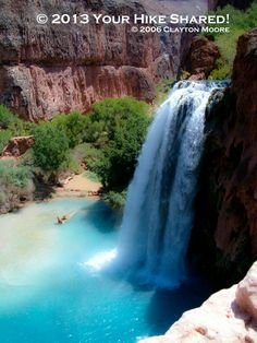 Oldies! -Havasu Falls. A great Hike when with some of the family back in 2006