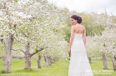 LACE wedding dress from Celia Grace. Spring wedding ~ ethical ~ handmade ~ eco ~ fairtrade ~ indie ~ vintage. Michelle Girard Photography. Karrie Welch Makeup Artist