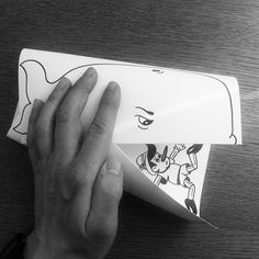 HuskMitNavn | Simple Paper Folds Create Illusions of Drawings Brought to Life - My Modern Met