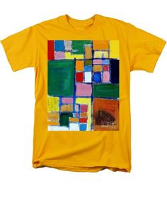 Abstract Men's T-Shirt  (Regular Fit) featuring the painting Checkers by Noa Yerushalmi