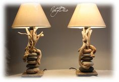 Shipping Furniture From India To Usa Driftwood Lamp, Driftwood Projects, Wood Lamps, Diy Projects, Luminaire Design, Lamp Bases, Cheap Furniture, Stone Art, Home Interior