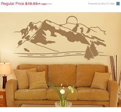 Cyber Monday Sale Mountains wall decal sticker by StyleandApply