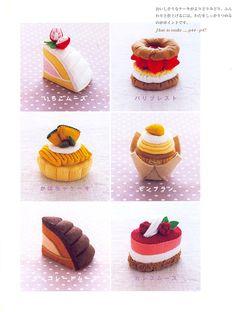Out-of-print Master Erikarika 01 80 Felt Sweets por MeMeCraftwork