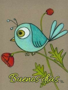 Blue bird on a personalized felted poppy print 8 X 10 - This adorable blue bird print would be a perfect gift for the bird lovers in your life! Bird Doodle, Doodle Art, Bird Drawings, Easy Drawings, Drawing Birds, Bird Drawing For Kids, Art Fantaisiste, Custom Mats, Fun 2 Draw