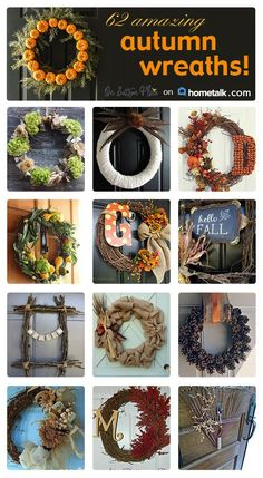Hometalk Autumn Wreath Clipboard | Curated by On Sutton Place