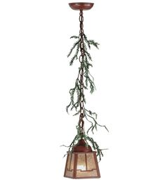 Meyda Tiffany Pine Branch Valley View LED Mini Pendant