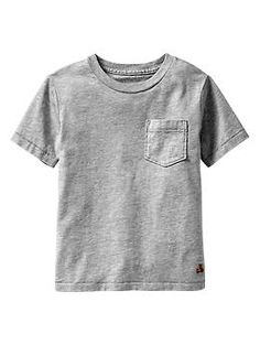 Short-sleeve pocket T - Moms and tots are obsessed! Durable mix-and-match knits designed especially for comfort, ease, and fun.