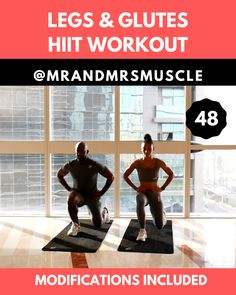Legs & Glutes HIIT Workout – 10 minutes Legs & Glutes HIIT Workout – 10 minutes,Health and Fitness Intense lower body exercise to build muscle and streghten in your legs. Full Body Hiit Workout, Fitness Workout For Women, Body Fitness, Workout Men, 10 Minute Workout, Cycling Workout, Men's Fitness, Workout Plans, Fitness Studio Training