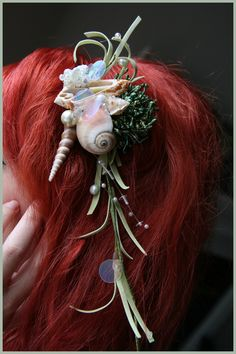 Seafoam Seashell Hairpiece