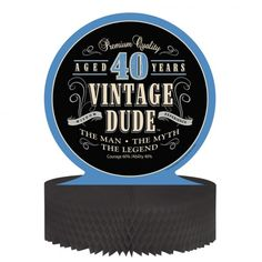 Tischdeko 40. Geburtstag Vintage Dude