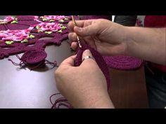 Vida com Arte | Sousplat e Porta Copo com Flor em Crochê por Cristina Luriko - 06 de Maio de 2015 - YouTube