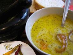 CIORBA DE CARTOFI CU AFUMATURA Romanian Food, Romanian Recipes, Cooking Recipes, Healthy Recipes, Cheeseburger Chowder, Bacon, Recipies, Food And Drink, Lunch
