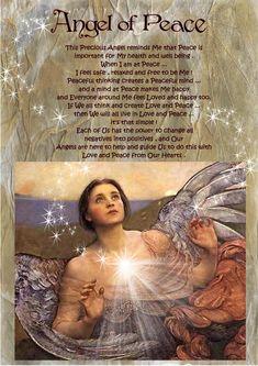angel blessings: ANGEL OF PEACE