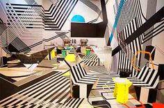 futurist cafe interior design♥