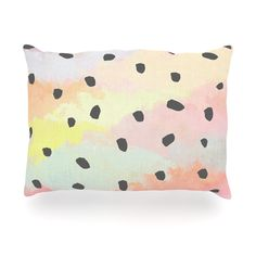 """Strawberringo """"With Dots"""" Pastel Painting Outdoor Throw Pillow"""
