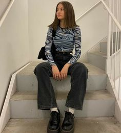 Mode Outfits, Retro Outfits, Vintage Outfits, Casual Outfits, Grunge Outfits, Grunge Dress, Vintage Clothing, Winter Outfits, Grunge Fashion