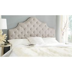 Safavieh Arebelle Taupe Tufted Headboard (Queen)