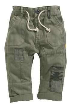Buy Khaki Patch Contrast Trousers (3mths–6yrs) from the Next UK online shop