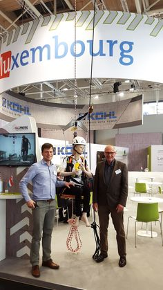 Right now Fallprotec is exhibiting the RopeClimber bag pack and some of other systems as SecuRope, SecuRail, anchor points, SafeAccess and SafeAccess C in HANNOVER MESSE 2016 - Technology trade show. Francis Timmermans and Rémi Timmermans are in the Luxembourgish booth with some other luxembourgish important companies in the field of research and innovation.