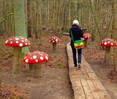 If you're mad about mushrooms, why not add this whimsical touch to your outdoor space?